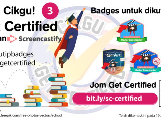 Cikgu Get Certified - Screencastify