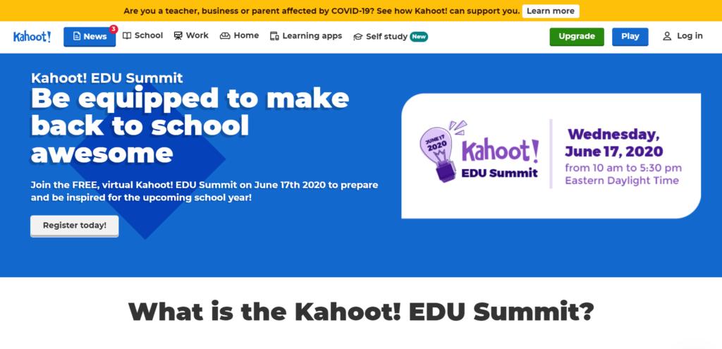 Jom Sertai Kahoot EDU Summit pada 17 Jun 2020