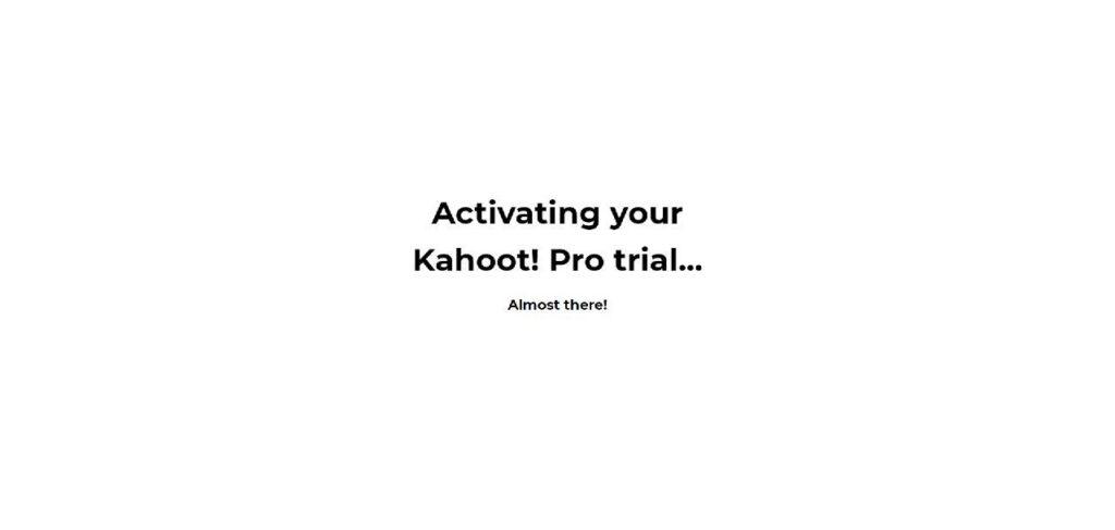 Proses Naik Taraf ke Kahoot! Premium sedang berjalan