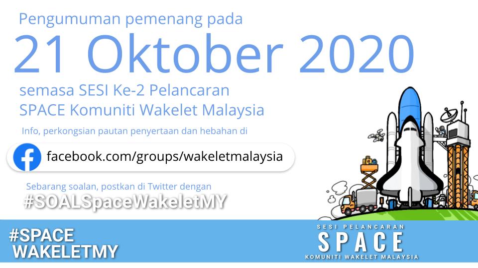 Pertandingan Koleksi Wakelet - Pengumuman Pemenang pada 21hb Oktober 2020