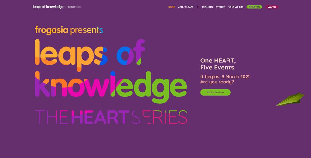 Leaps of Knowledge 2021 The HEART Series - Episode H - Pendaftaran Percuma