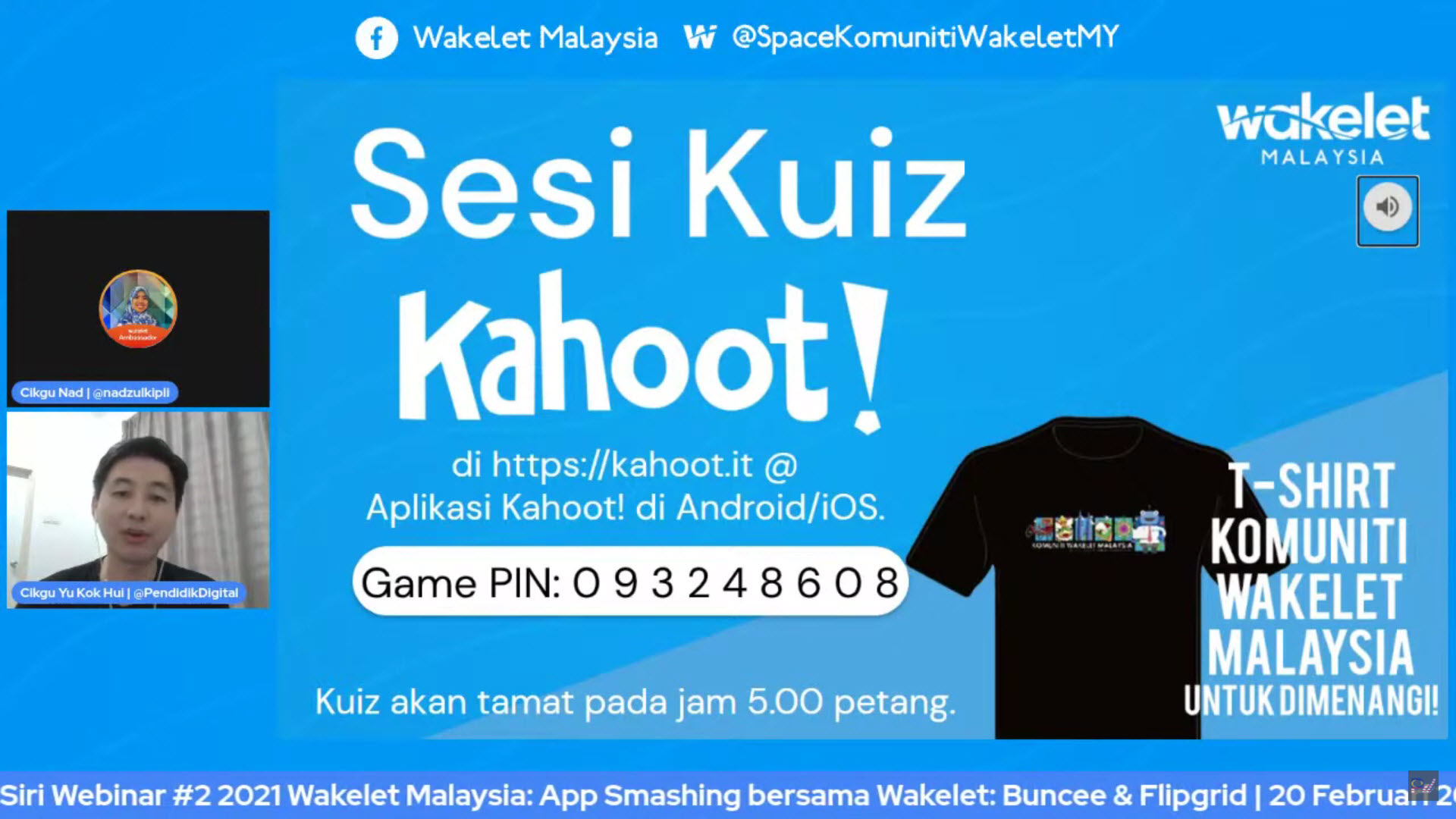 Spice Up Wakelet Training Sessions with Kahoot! - Wakelet Malaysia's First Webinar - Kahoot! Challenge